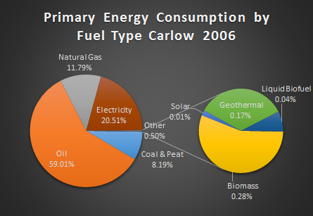 Primary Energy Consumption Carlow 2006